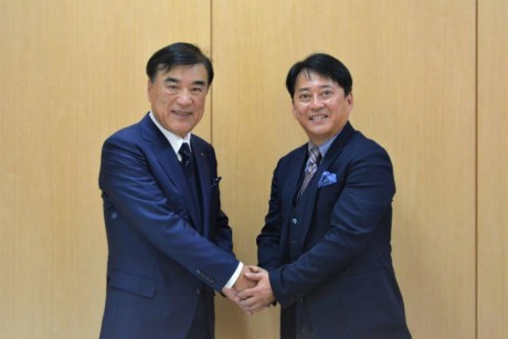 アジア経営者連合会 澤田会長(左)と 東京和僑会 三浦会長 (右)
